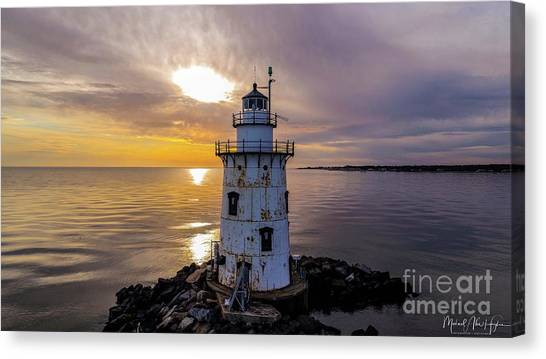 Old Saybrook Outer Light Canvas Print