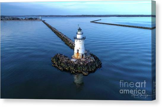 Old Saybrook Outer Lighthouse Canvas Print