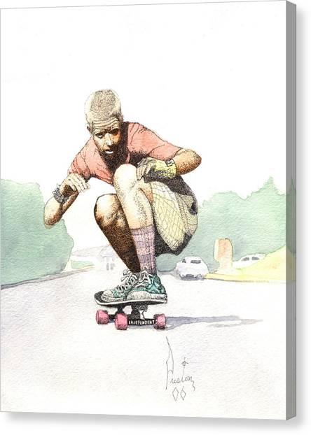 Old School Skater Canvas Print by Preston Shupp