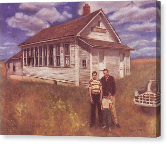 Old Schoolhouse Revisited Canvas Print