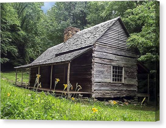 Old Settlers Cabin Smoky Mountains National Park Canvas Print