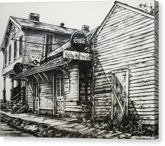 Old Shawneetown Canvas Print by Michael Lee Summers
