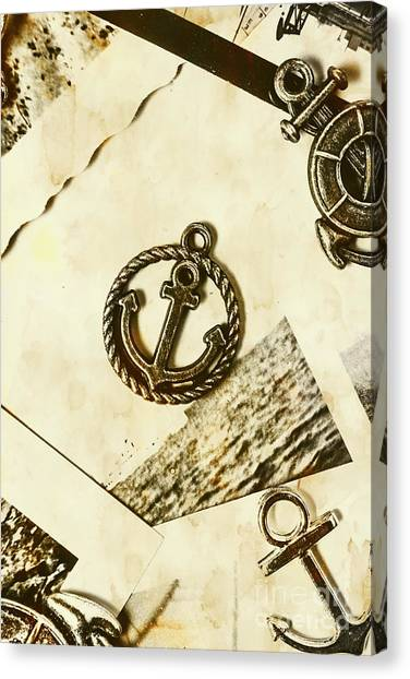 Historical Canvas Print - Old Shipping Emblem by Jorgo Photography - Wall Art Gallery