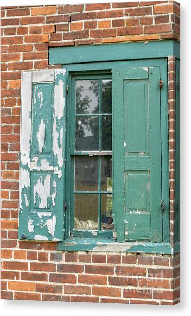 Old Shuttered Door Canvas Print