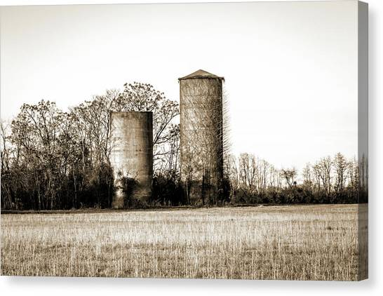 Old Silos Canvas Print