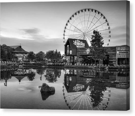 Ole Smoky Tennessee Moonshine Reflection In Black And White Canvas Print