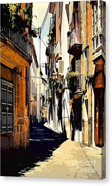 Old Spanish Street Canvas Print