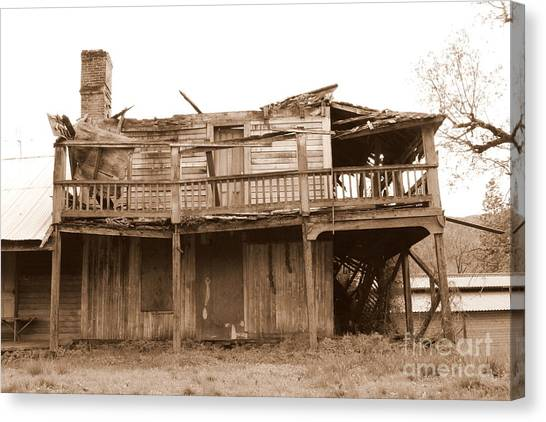 Old Stagecoach Stop Canvas Print
