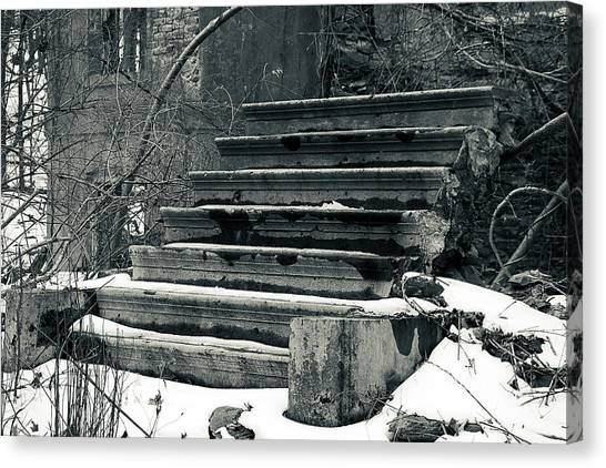Old Stairs To Nowhere Canvas Print