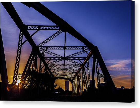 Old Steel Bridge Canvas Print