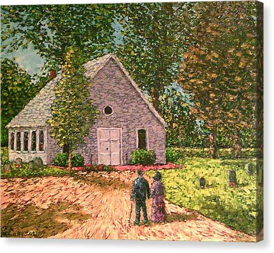 Church Yard Canvas Print - Old Stome Church by Frank Morrison