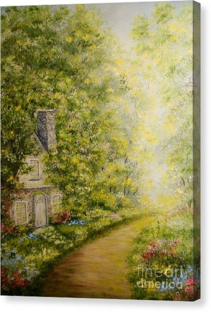 Old Stone Cottage Canvas Print