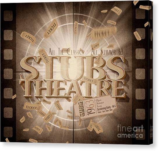 Presentations Canvas Print - Old Stubs Theatre Advert by Jorgo Photography - Wall Art Gallery