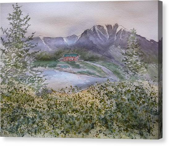 Old Susitna Lodge Canvas Print