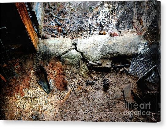 Old Threshold Paint Canvas Print