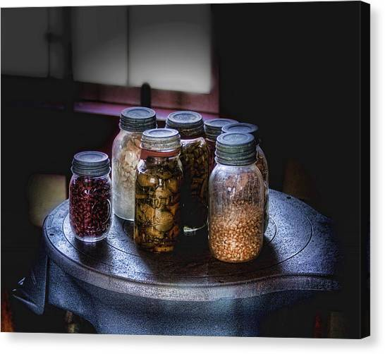 Old Fashioned Canvas Print - Old-time Canned Goods by Tom Mc Nemar