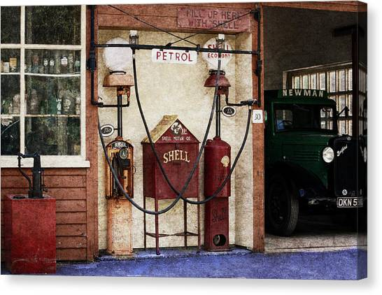Old Time Gas Station Canvas Print