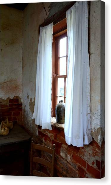 Old Time Window Canvas Print