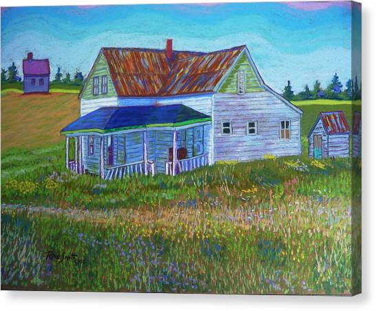 Old Tin Roof Canvas Print