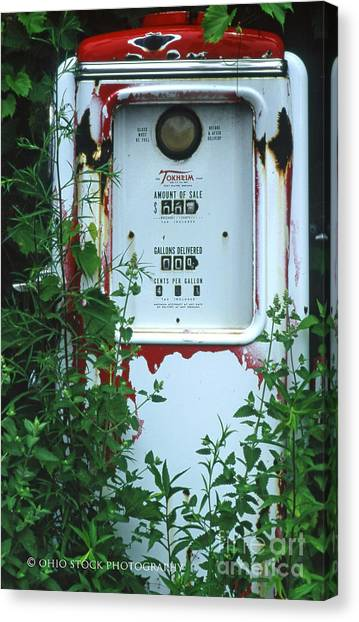 6g1 Old Tokheim Gas Pump Canvas Print