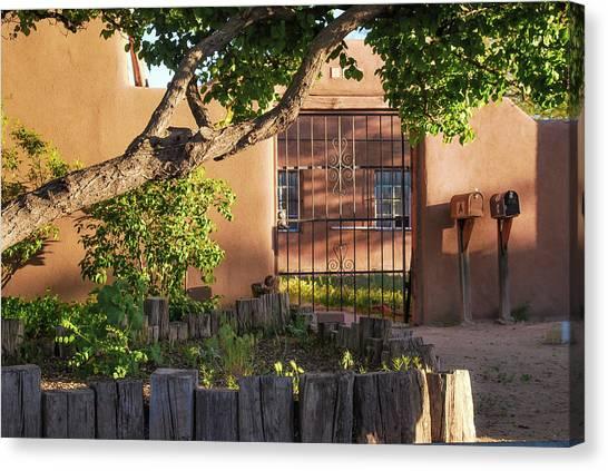 Old Town Albuquerque Pueblo  Canvas Print by Gregory Ballos
