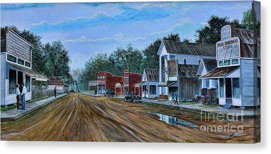 Old Town Breaux Bridge La Canvas Print