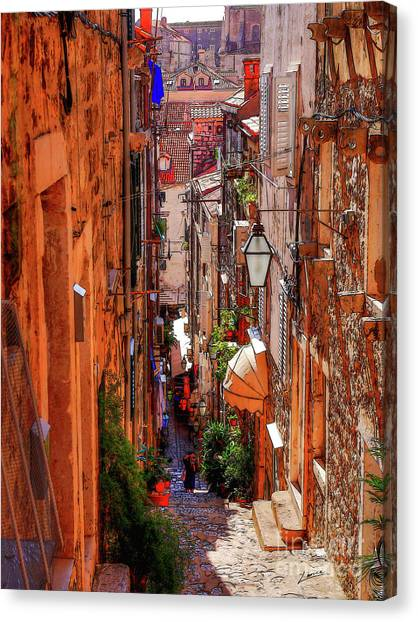 Old Town Dubrovniks Inner Passages Canvas Print