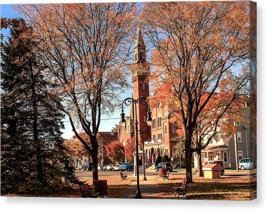 Old Town Hall In The Fall Canvas Print