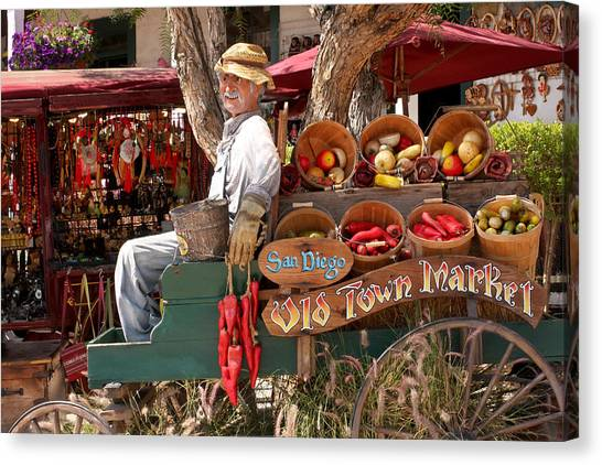 Old Town San Diego Canvas Print - Old Town Market by Art Block Collections