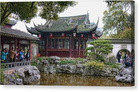 Old Town Shanghai Canvas Print by Barb Hauxwell