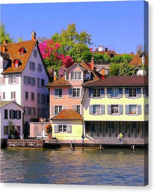 Old Town Zurich, Switzerland Canvas Print