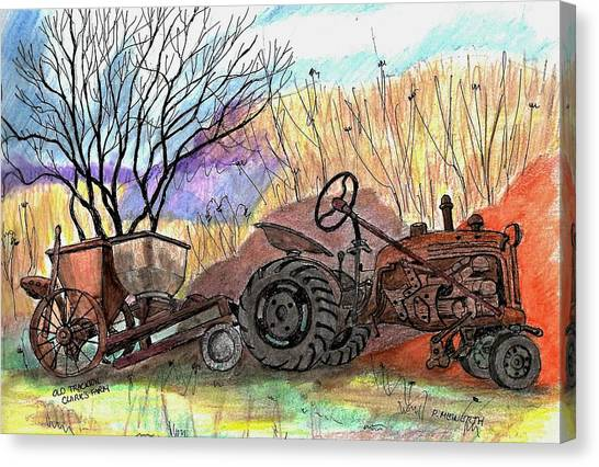 Old Tractor Danvers Ma Canvas Print