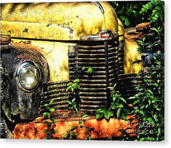 Old Transportation Canvas Print by Kathy Jennings