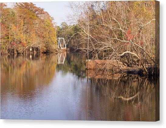 Old Trestle On The Waccamaw River Canvas Print