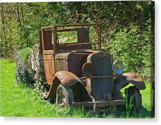 Old Truck II C1002 Canvas Print by Mary Gaines