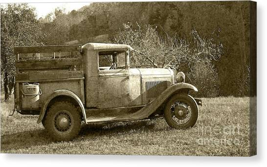 Old Truck On The Mountain Canvas Print