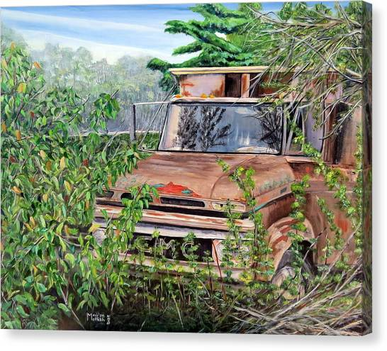 Old Truck Rusting Canvas Print