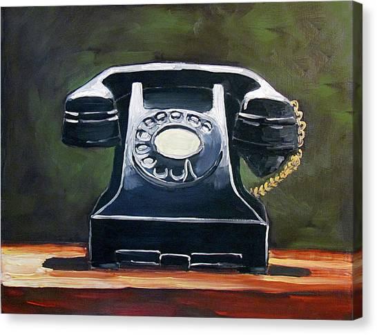 Old Vintage Phone Canvas Print