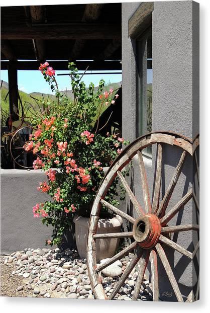 Old Wagon Wheel Canvas Print by Gordon Beck