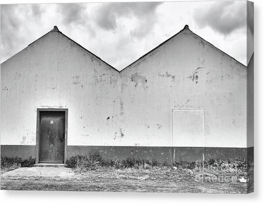 Old Warehouse Exterior Canvas Print