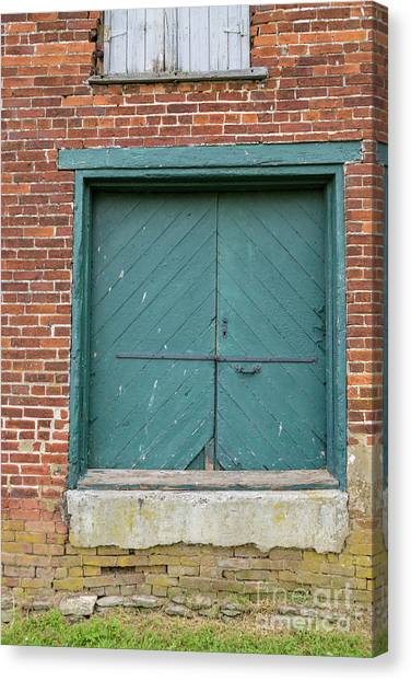 Old Warehouse Loading Door Canvas Print