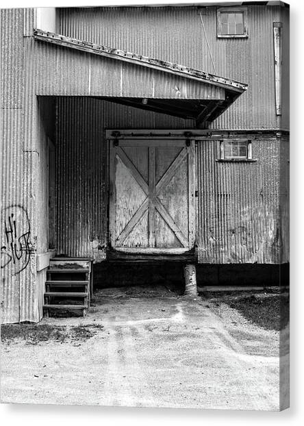 Warehouses Canvas Print - Old Warehouse Norwich Vermont by Edward Fielding