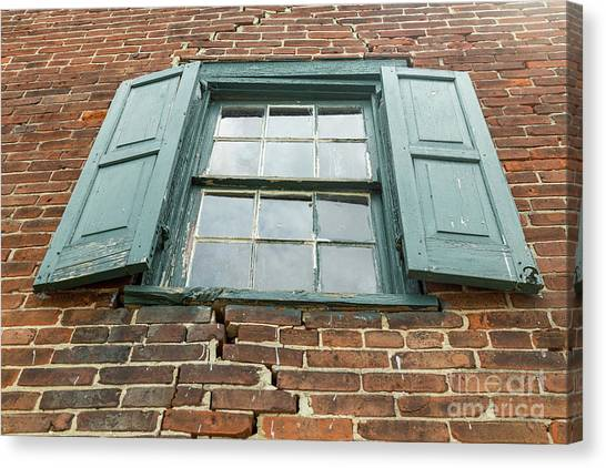 Old Warehouse Window Canvas Print