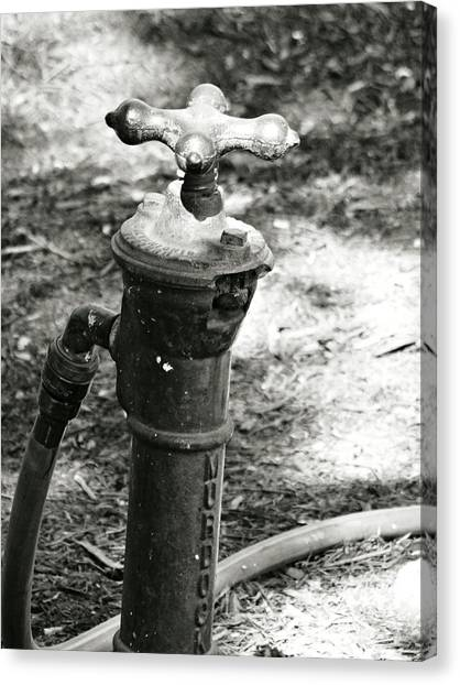 Old Water Pipe Canvas Print