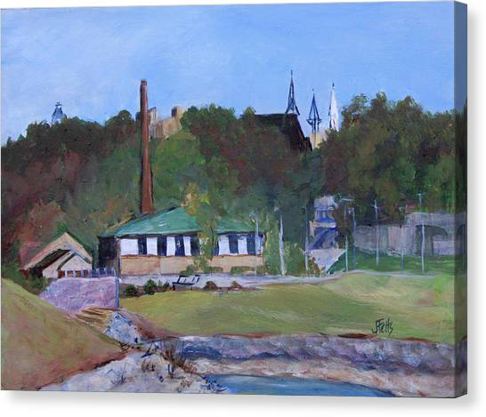 Ohio Valley Canvas Print - Old Waterworks Building by Janet Felts