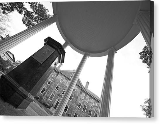 University Of North Carolina Chapel Hill Canvas Print - Old Well And South Building Horizon by Matt Plyler