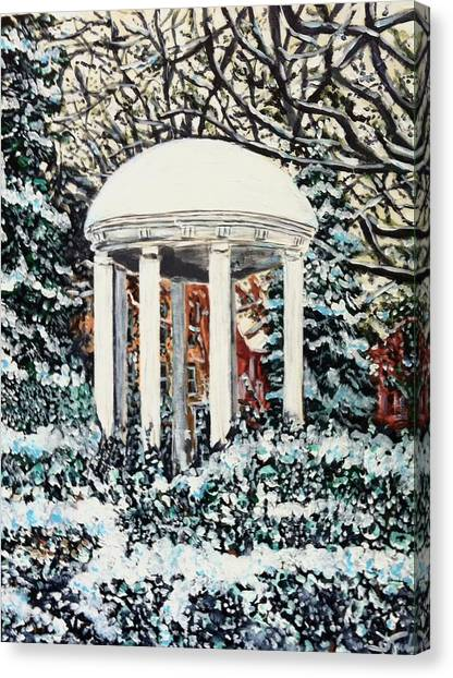 Old Well Winter Canvas Print