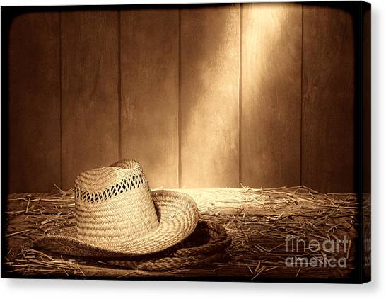 Old West Farmer Hat Canvas Print