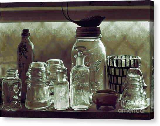old west impressionism - Glass Ware VII Canvas Print