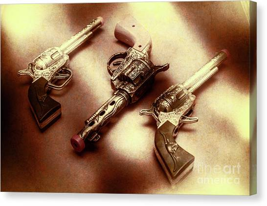 Pistols Canvas Print - Old Western At Play by Jorgo Photography - Wall Art Gallery